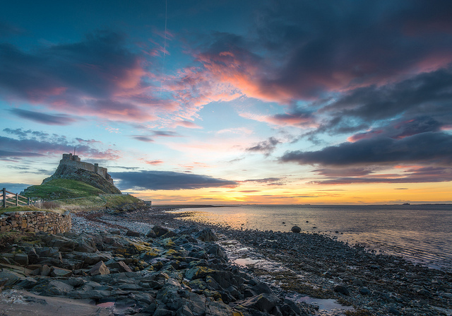 Holy Island Castle Sunrise