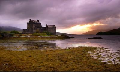 Scottish Castle on Lake