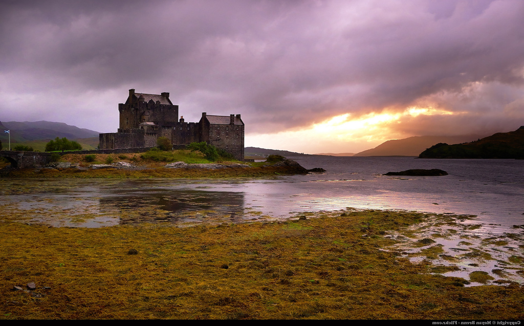 Scottish Castle on Lake