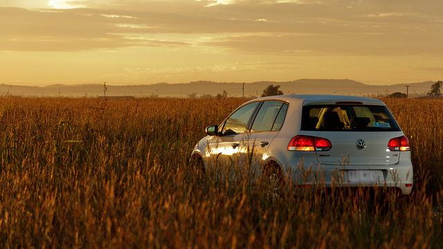 VW Golf Mk6 in field