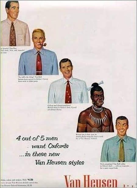Racist Van Heusen ad