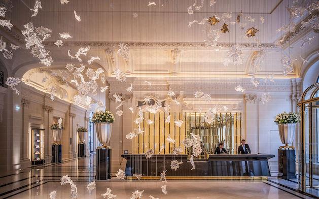 The Peninsula Paris hotel lobby