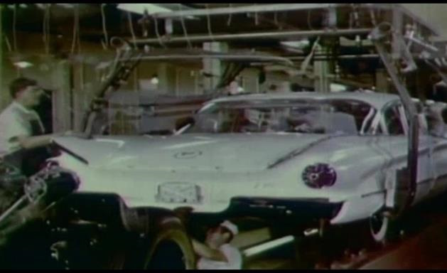 old car being manufactured