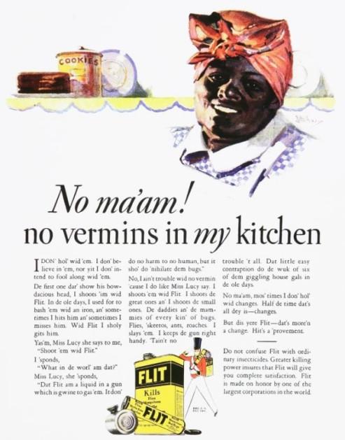 racist flit ad