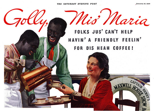 racist maxwell house ad