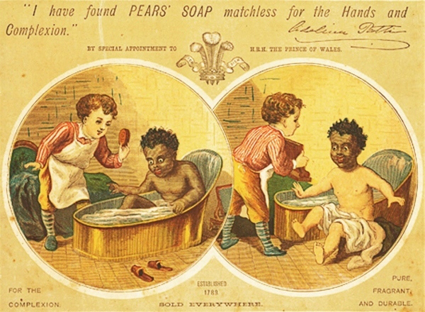 racist pears' soap ad