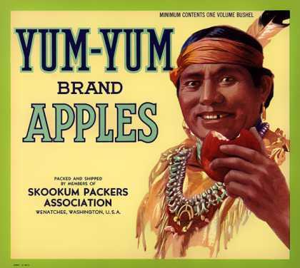 racist yum yum apples ad