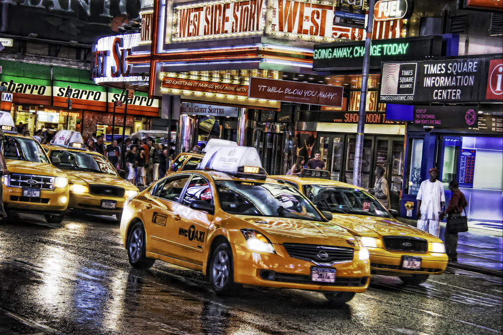 times square taxis
