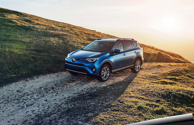 Toyota Rav4 Hybrid on hillside