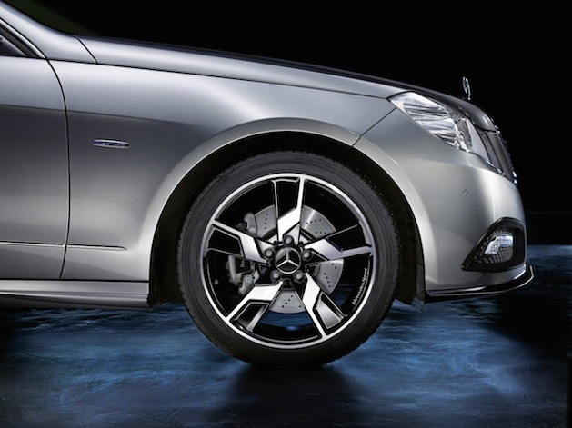 light alloy wheels on mercedes