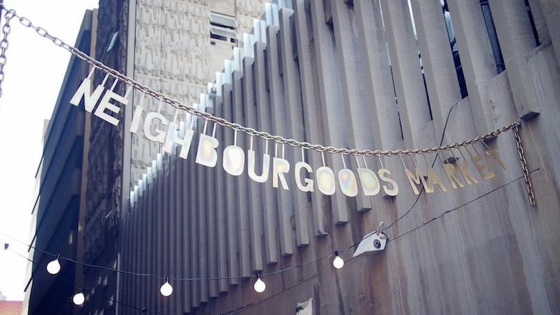 neighbourgoods market sign in johannesburg