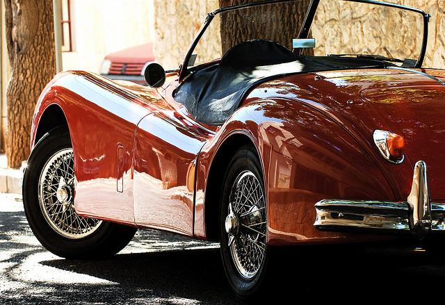 Red Jaguar XK140