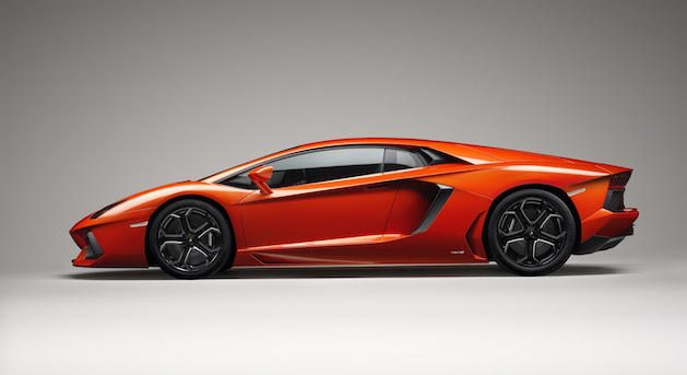 2015 Lamborghini Aventador in orange