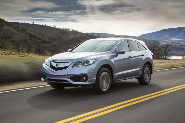 2016 silver acura rdx on road