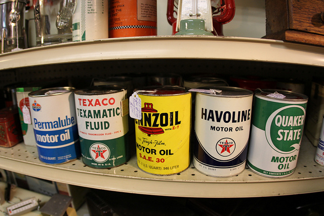 Oil cans at Antique Shop