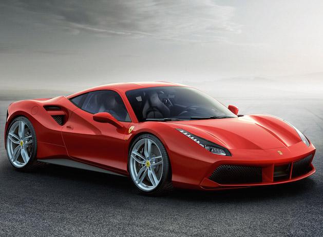 Ferrari 488 GTB in red