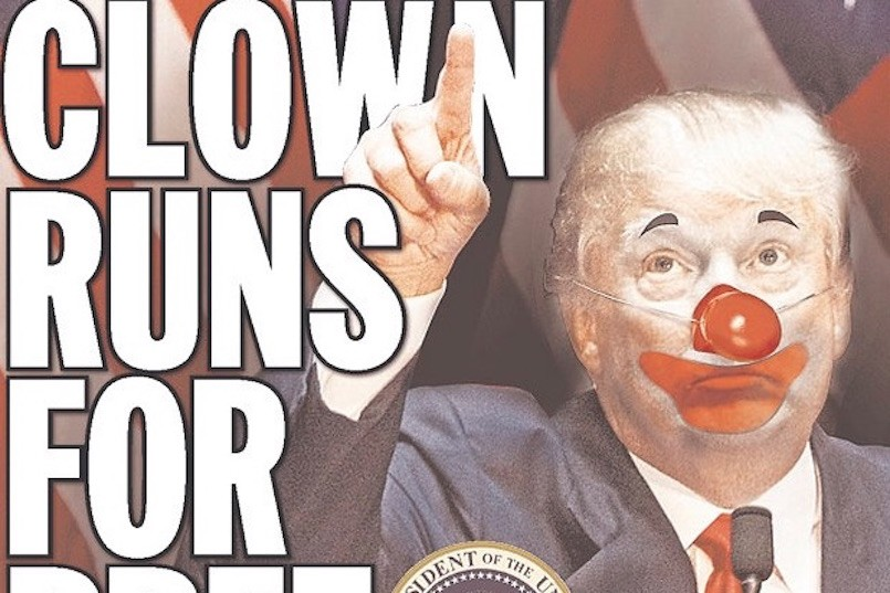 donald trump as a clown
