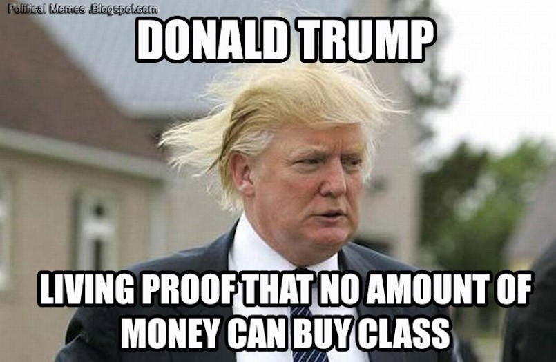 Image result for Trump is rich meme