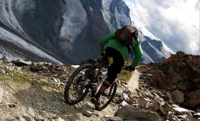 downhill mountain biking Zermatt
