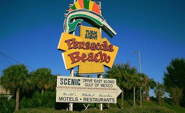 pensacola beach sign