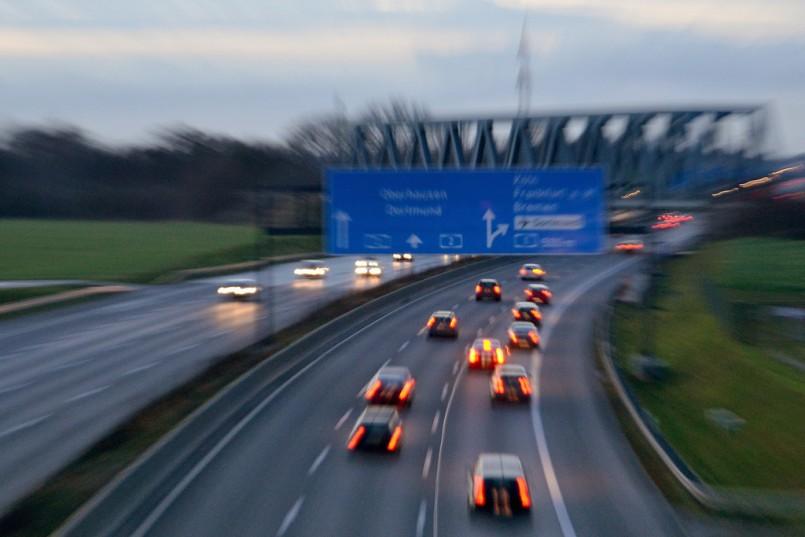 Autobahn, Kamener Kreuz, Rush Hour