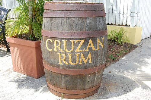 Cruzan Rum in barrel