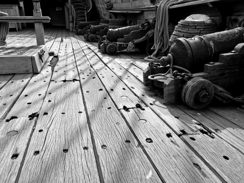 deck of the pirate ship