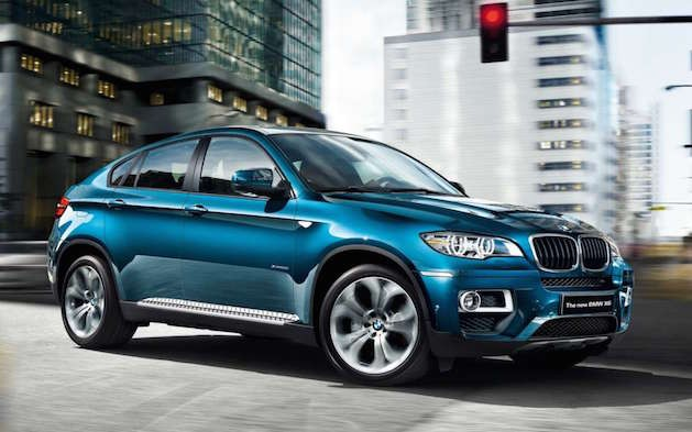 2014 BMW X6 in blue