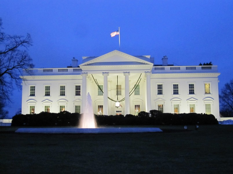 White House at blue hour