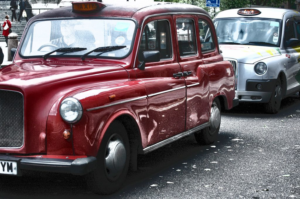two london cabs