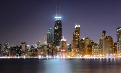 Chicago Winter Chill skyline