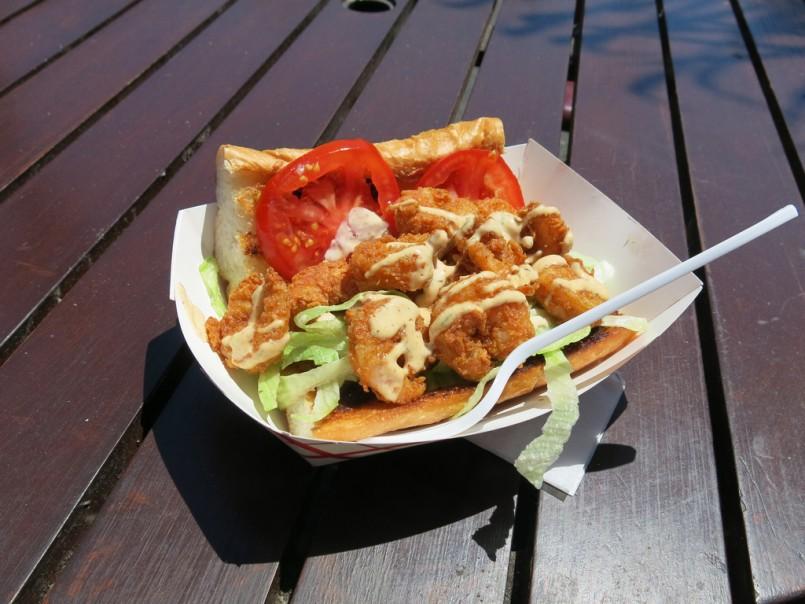 Shrimp Po' Boy from Cajun Persuasion truck at SoMa StrEat Food Park