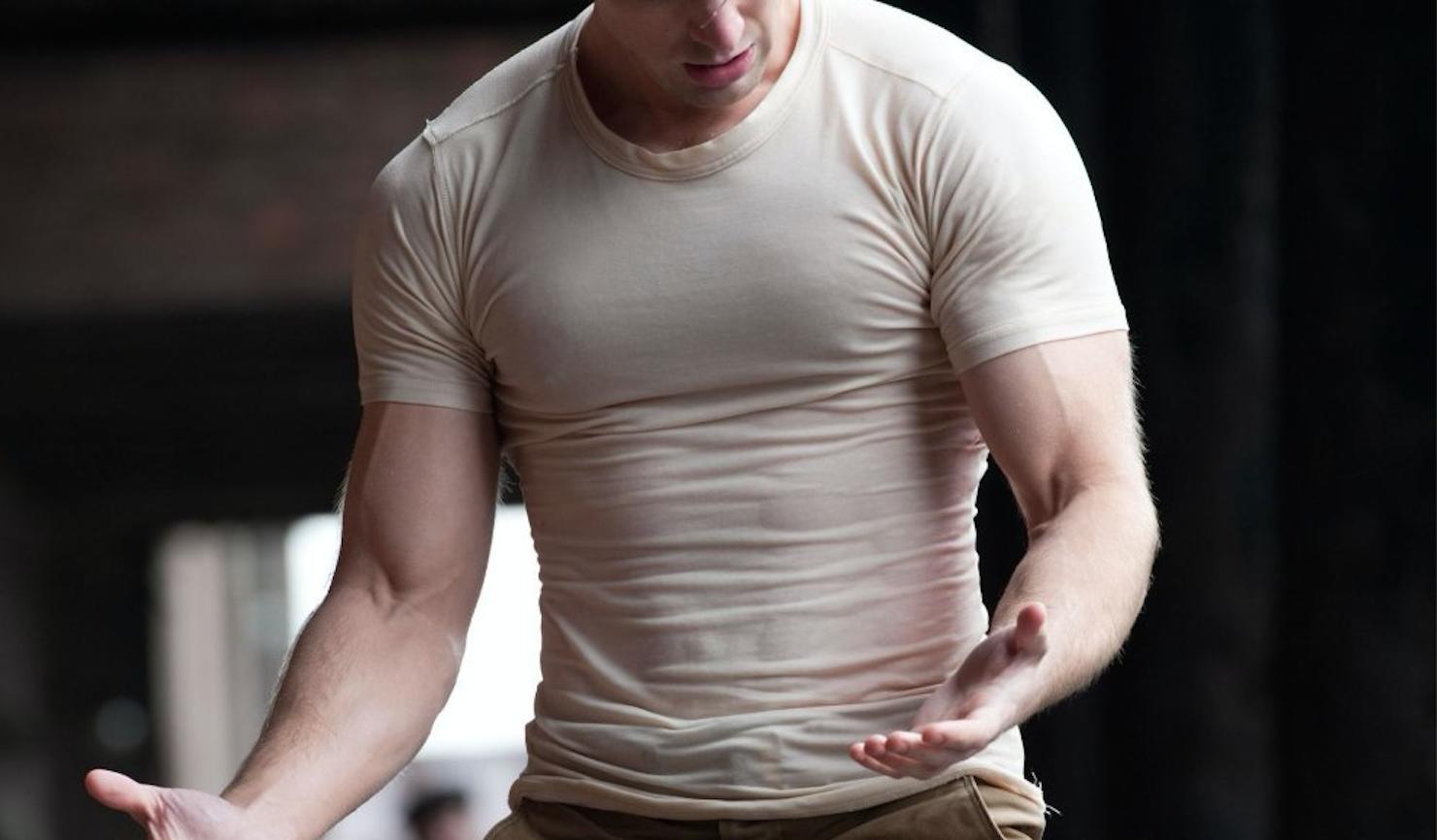 Chris Evans' Chest in Tshirt