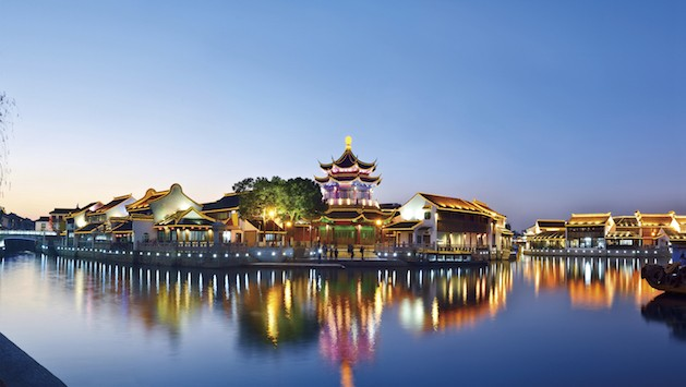 SUZHOU GARDEN AT SUNSET China
