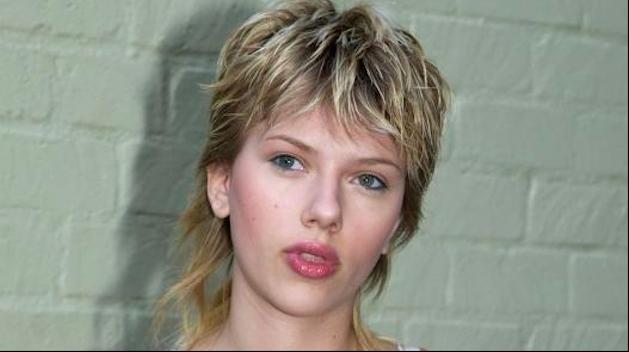 Scarlett Johansson bad mullet hair