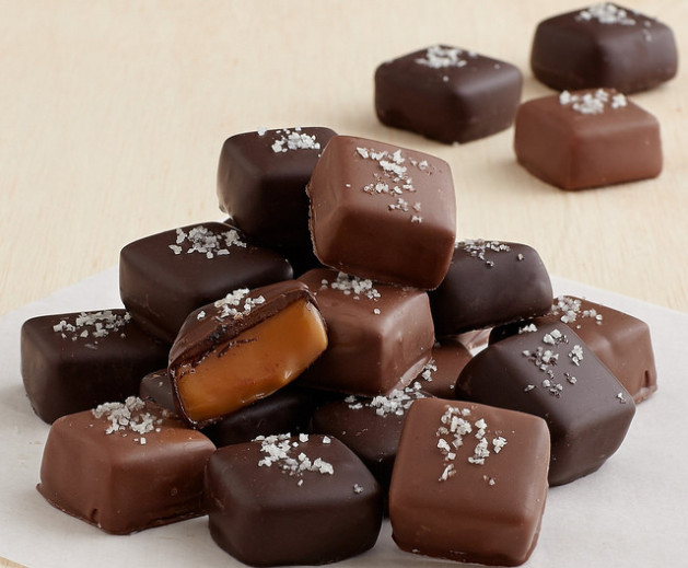 Handmade Chocolate covered Gray Sea Salted Caramels