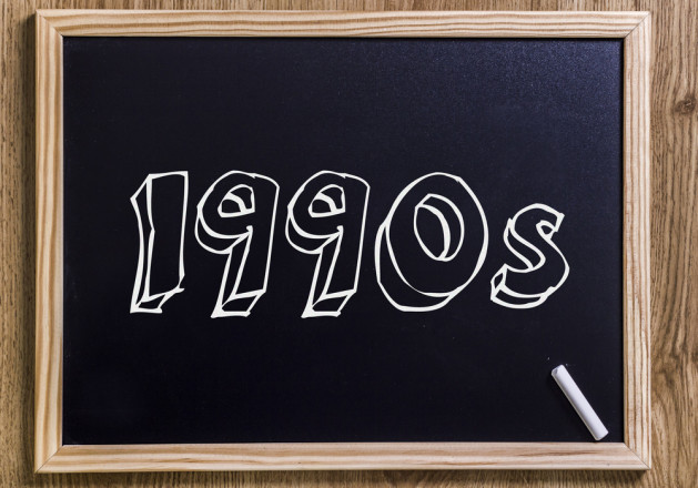 1990s - New chalkboard with outlined text - on wood