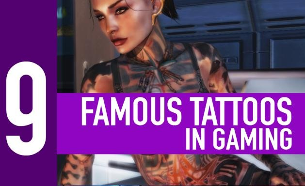 9 famous tattoos in gaming