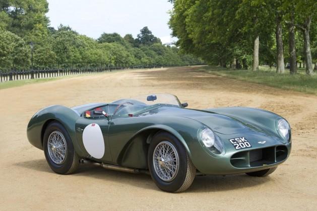 Aston Martin DB3s in green