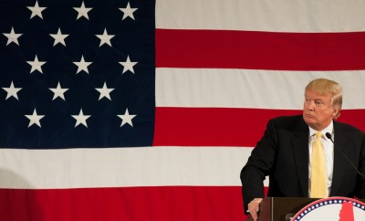 Donald Trump speaks at the First in the Nation Leadership Summit in Nashua NH on April 18 2015
