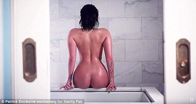 demi lovato naked vanity fair
