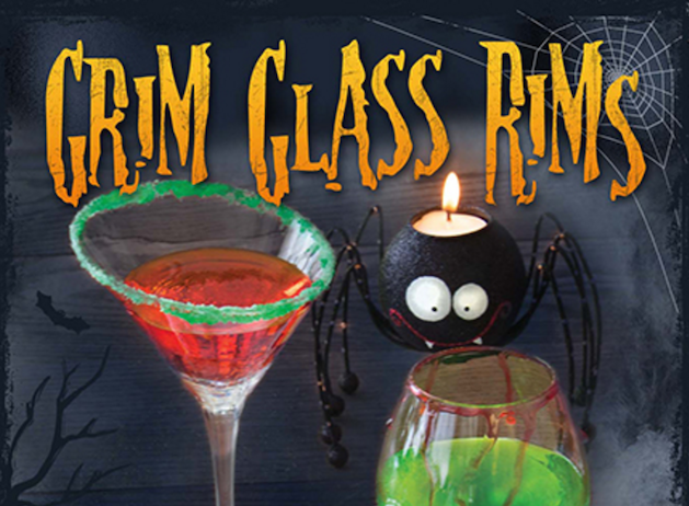 halloween glass rims