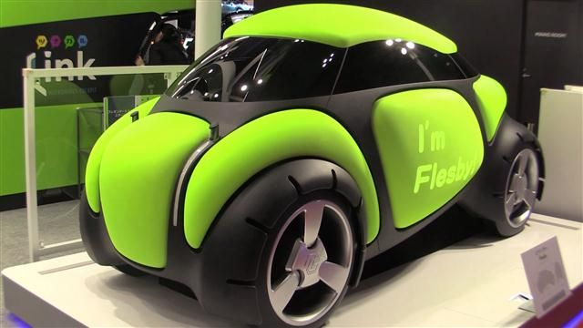 green and black prototype car