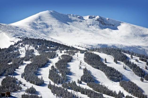 Summit County Ski Slopes. Winter in Breckenridge, Colorado, United States
