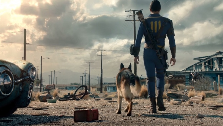 fallout 4 trailer still with dog