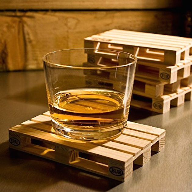 wood pallet drink coasters