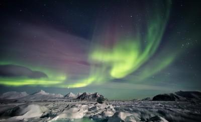 Beautiful Aurora Borealis - Spitsbergen, Svalbard