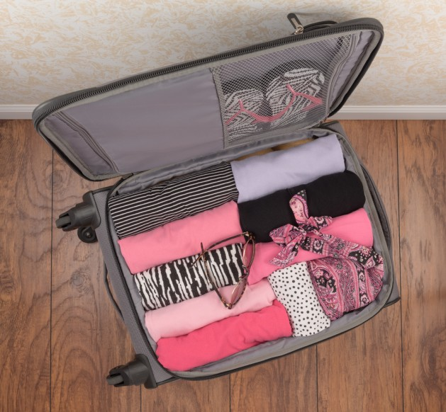 Ladies Packed Suitcase (Top Down)