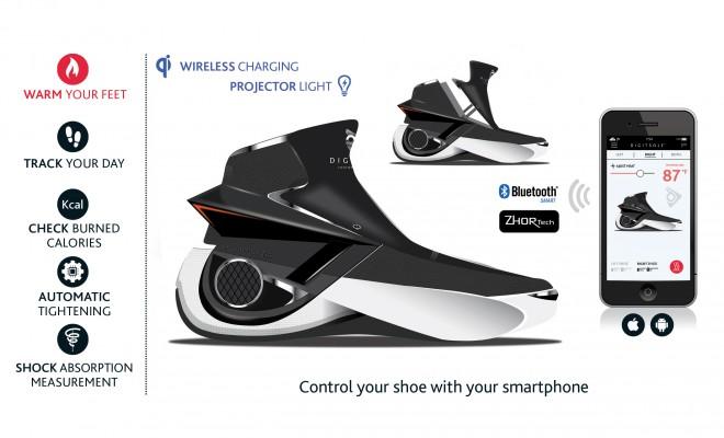 Black and White Smart Shoe