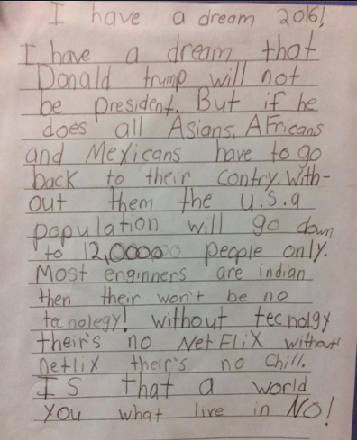 A Trump Presidency (According To A Third Grader)
